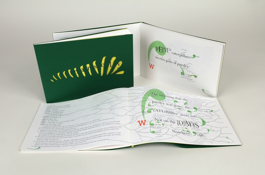 3 copies of Parsely by Woody Leslie; front cover and two inside spreads