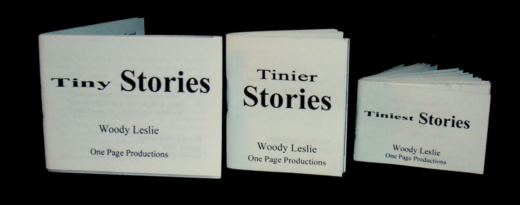 3 small books: Tiny Stories, Tinier Stories, and Tiniest Stories