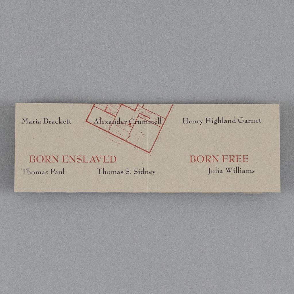 """First opening of """"Students."""" 6 names are organized into 2 categories, """"born enslaved"""" and """"born free"""""""