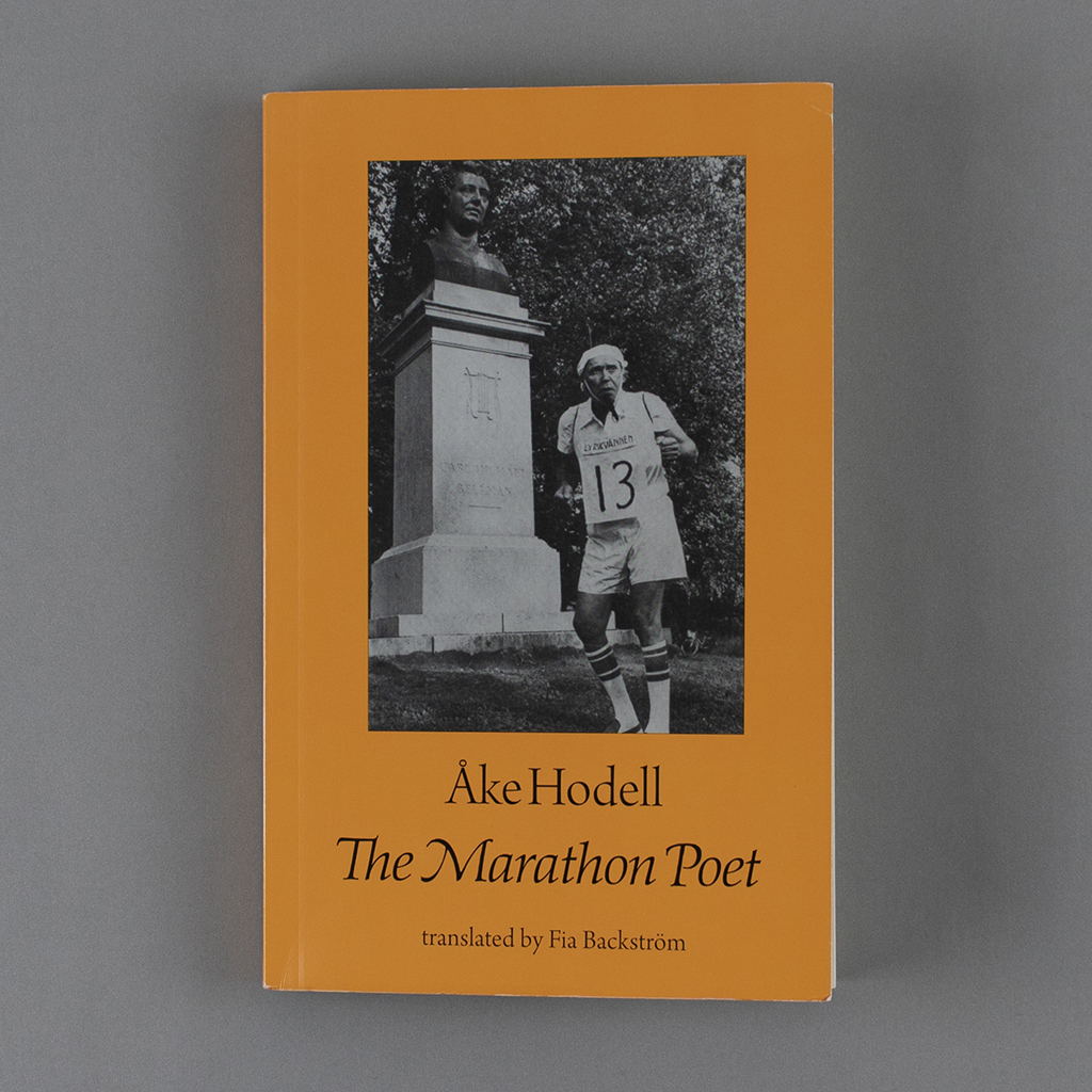 The Marathon Poet front cover, with a black and white image of the author in a racing bib.