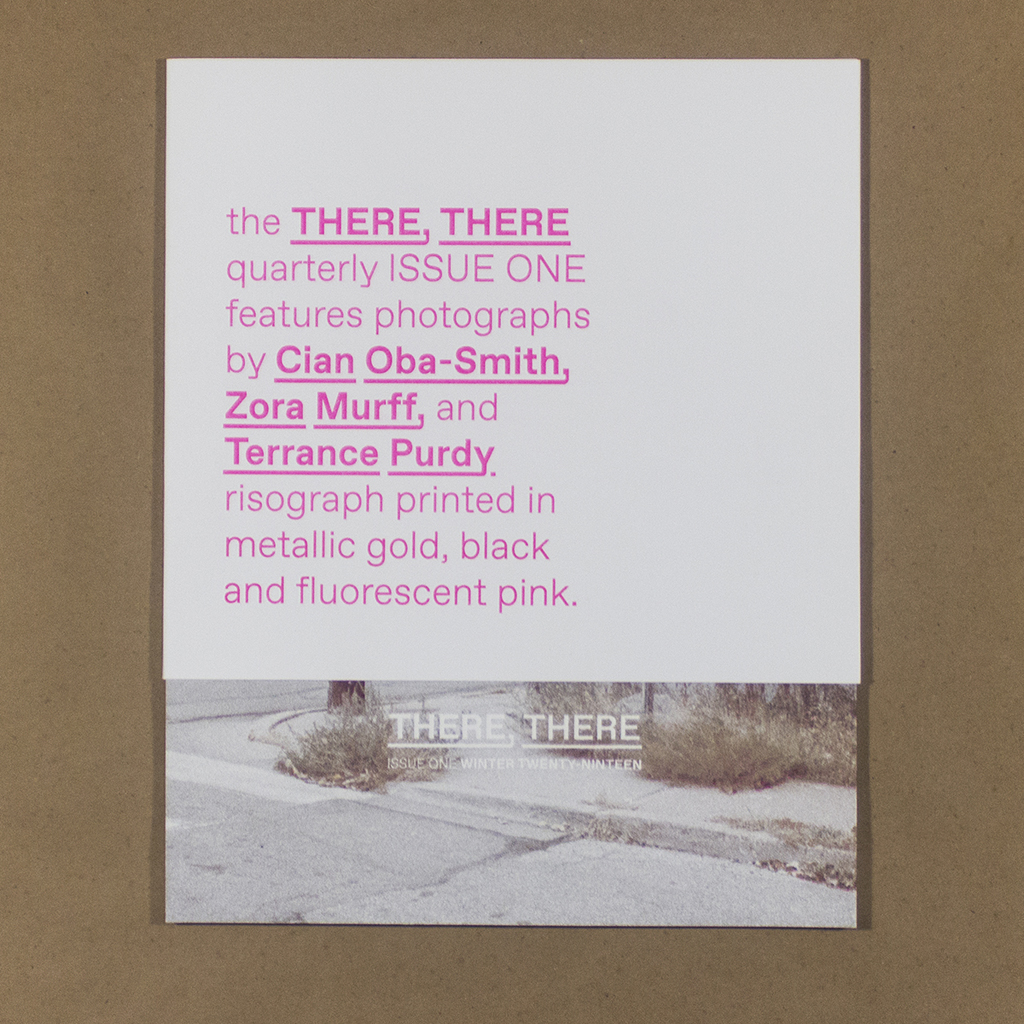 THERE THERE Quarterly, Issue 1, Cover