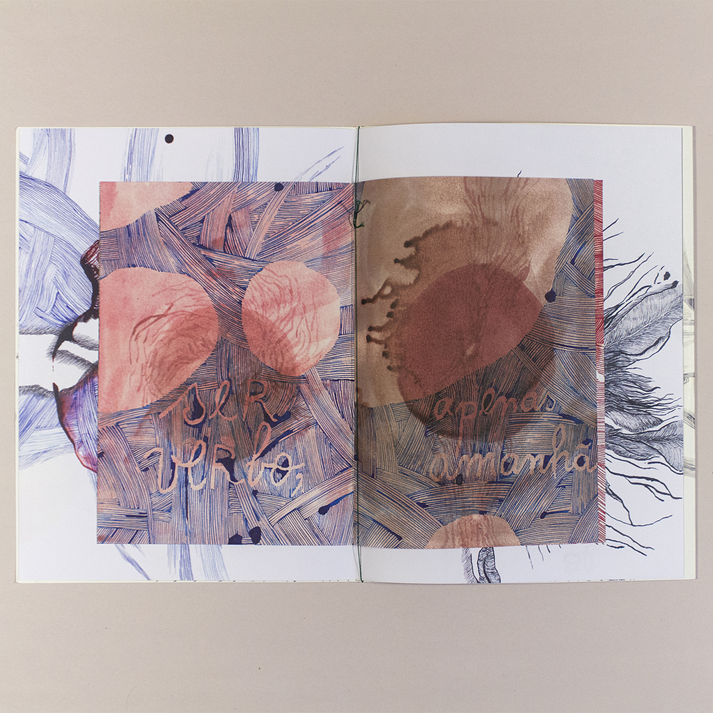 Voragem; Inside spread with a smaller pamphlet inserted inside the main book